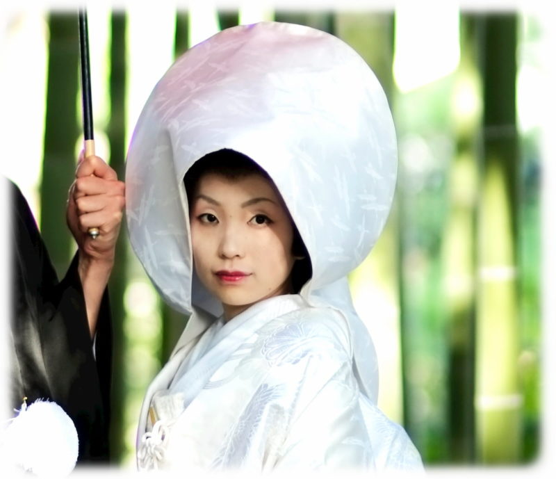 神前式 綿帽子 髪型