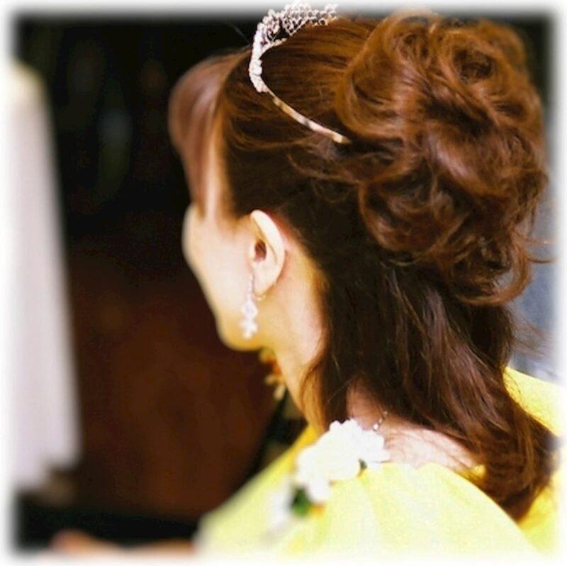 結婚式 カラードレス 髪型