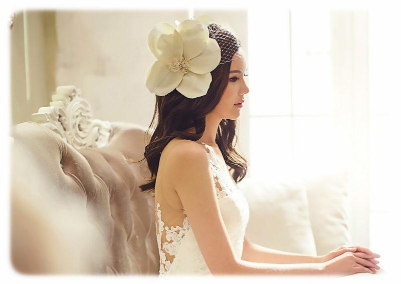 ウェディング ヘッドドレス ハット