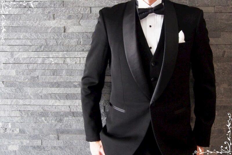 結婚式 タキシード 黒