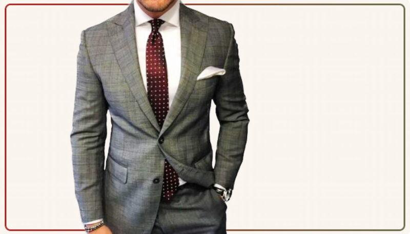 結婚式 スーツ グレー 光沢