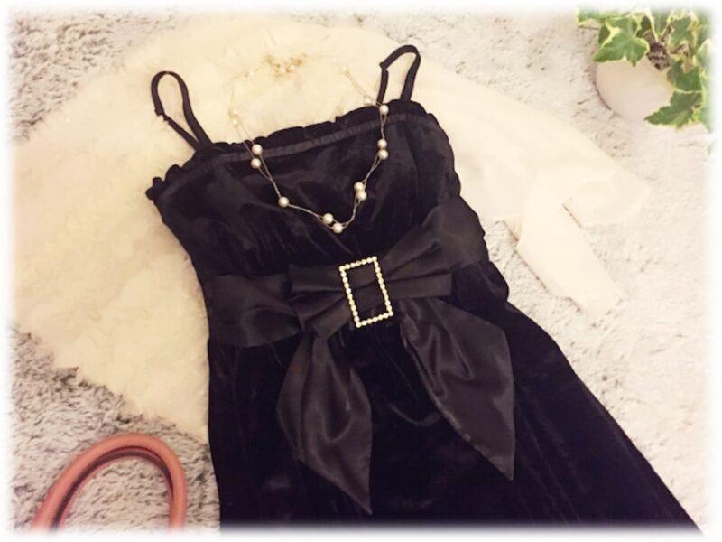 結婚式 黒ドレス アクセサリー