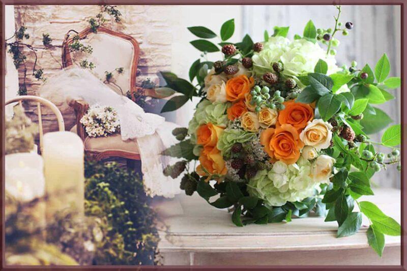 結婚式 装花 秋