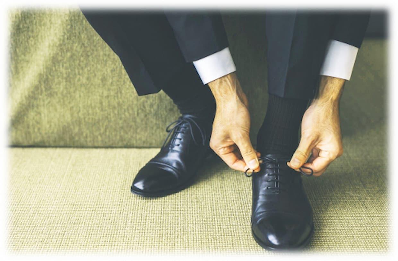 結婚式 靴下